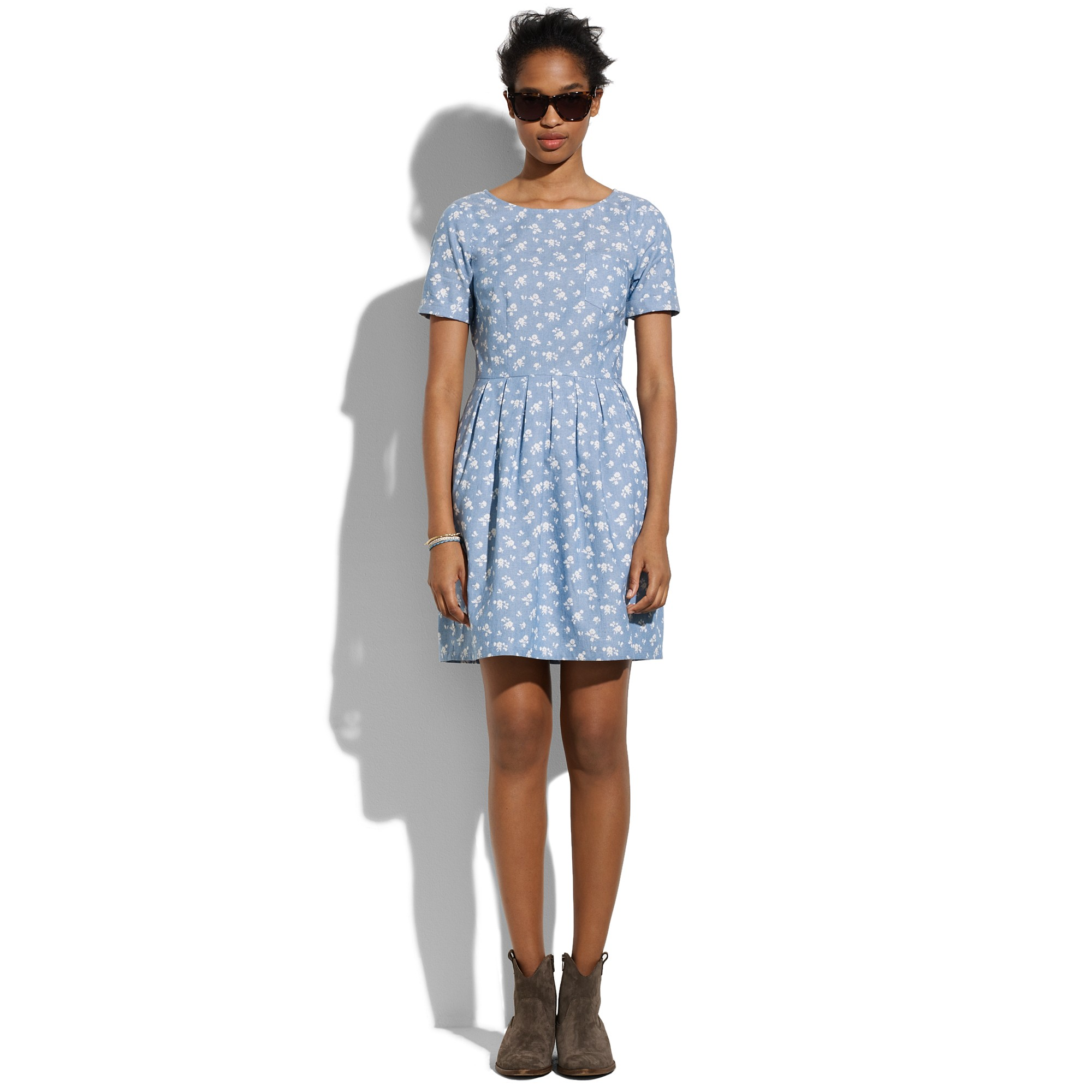 Lyst Madewell Floral Songbird Dress In Blue