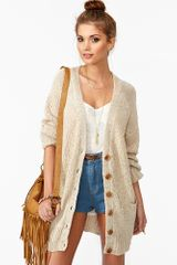 Nasty Gal Sands Of Time Cardi in Beige (cream) - Lyst
