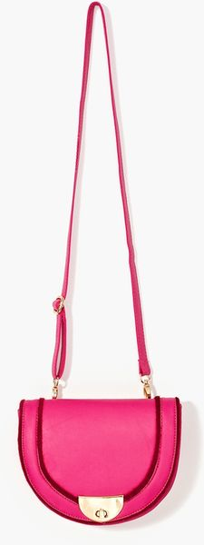 Nasty Gal Sofie Saddle Bag in Pink - Lyst