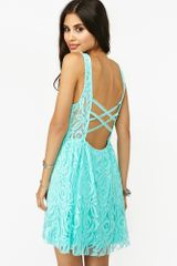 Nasty Gal Layla Lace Dress Sky Blue