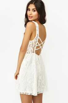 Nasty Gal Layla Lace Dress White - Lyst