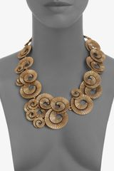 Oscar De La Renta Spiral Collar Necklace in Gold - Lyst