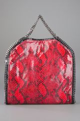 Stella Mccartney Falabella Tote in Animal (red) - Lyst