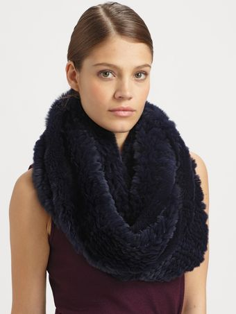 Theory Trianne Fur Scarf - Lyst