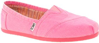 Toms Plametto Neon Canvas Flat Shoes - Lyst