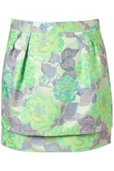 Topshop  Jacquard Layer Skirt - Lyst