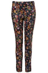 Topshop  Tapestry Trousers in Multicolor (multi) - Lyst