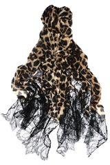 Valentino Jaguarprint Cashmere and Lace Scarf in Animal (jaguar) - Lyst