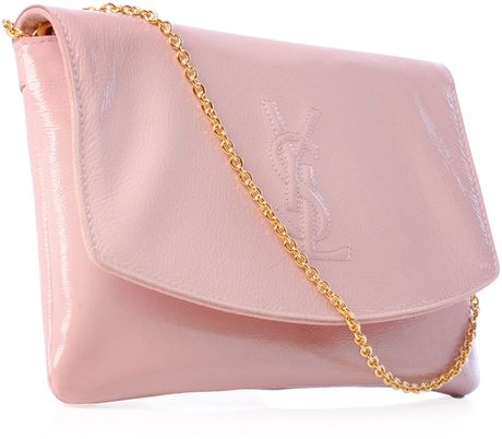 Saint Laurent Belle Du Jour Mirror Clutch in Pink - Lyst