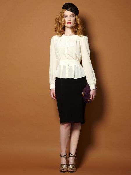 Silk Fitted Blouse