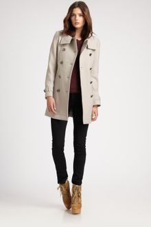 Burberry Brit Wool Coat - Lyst