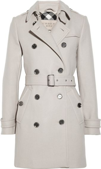 Burberry Brit Doublebreasted Woolblend Trench Coat - Lyst