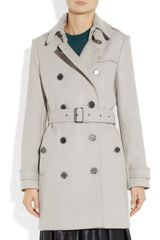Burberry Brit Doublebreasted Woolblend Trench Coat in Gray - Lyst