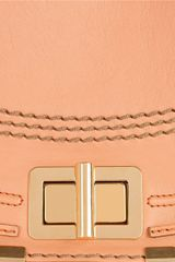 Chloé Marcie Leather Shoulder Bag in Orange - Lyst