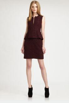 Diane Von Furstenberg Delian Pebble Lace Peplum Dress - Lyst