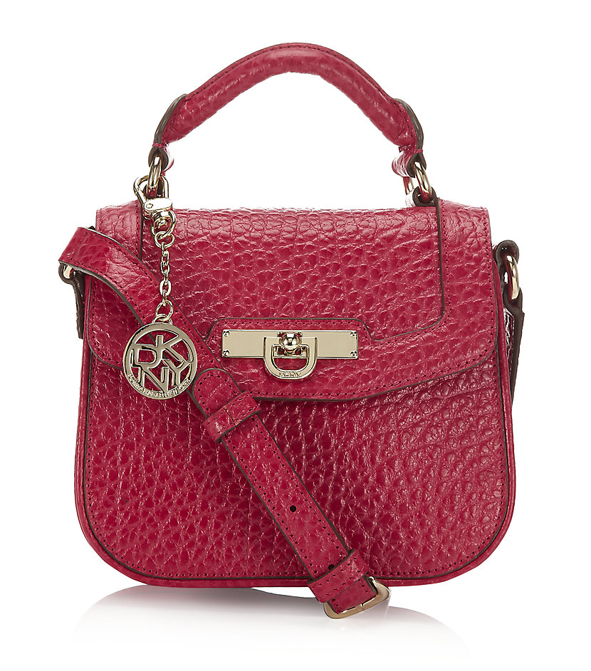 dkny grain mini crossbody bag in pink lyst