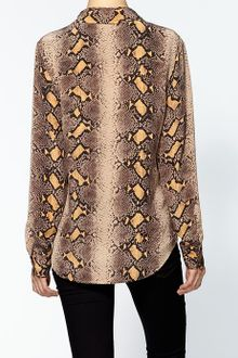 Equipment Brett Silk Print Blouse - Lyst