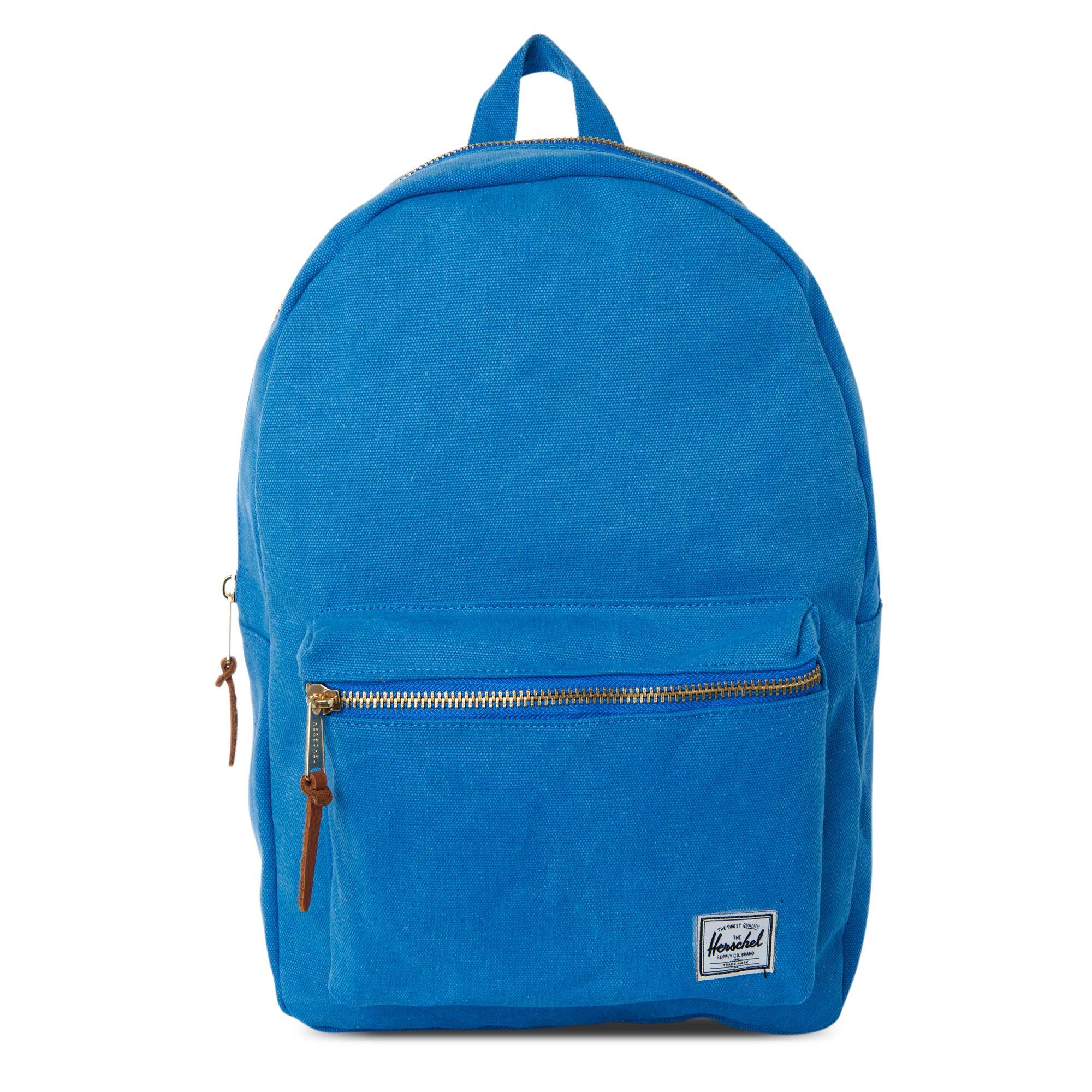 Herschel Supply Co Settlement Backpack: Herschel Supply Co. Settlement Canvas Backpack In Blue For