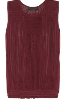 Isabel Marant Dakota Smocked Silkgeorgette Top - Lyst