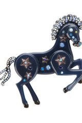 Lanvin Horse Brooch in Blue - Lyst