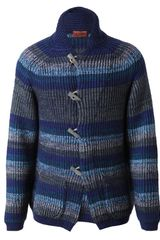 Missoni Woolmohair Striped Cardigan in Blue for Men (blue multi) - Lyst