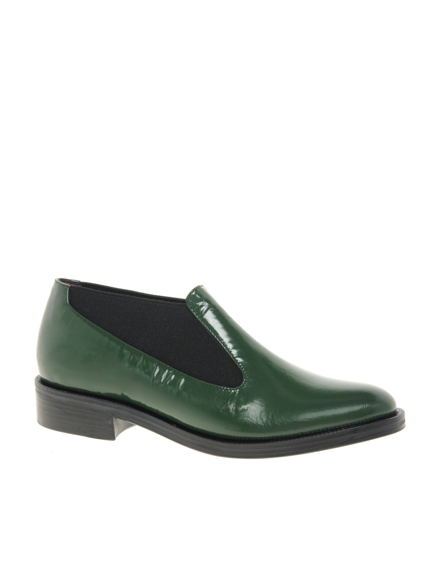 opening ceremony green slip on flat shoes in green