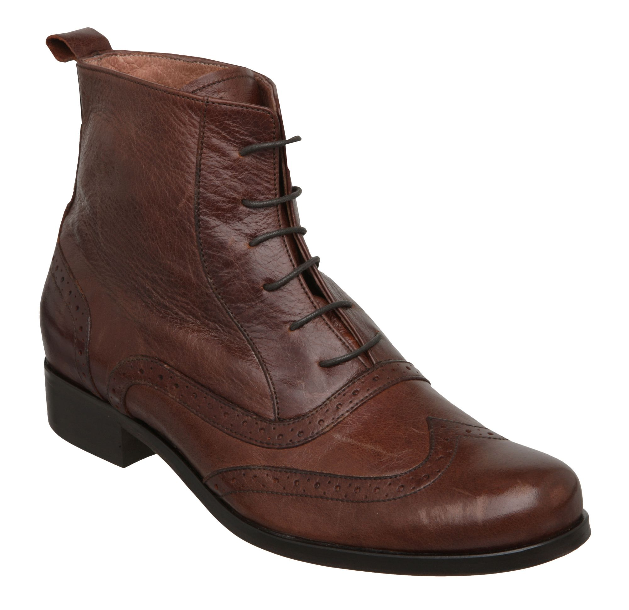 Pied A Terre Opitz Brouge Lace Up Ankle Boots In Brown