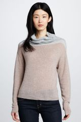Rebecca Taylor Colorblock Cashmere Sweater - Lyst