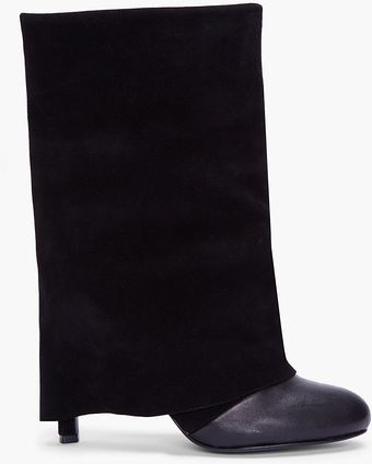 See By Chloé Fold Over Heel Boot - Lyst