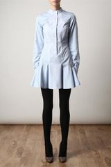 Stella Mccartney Tailored Cotton Shirtdress in Blue - Lyst