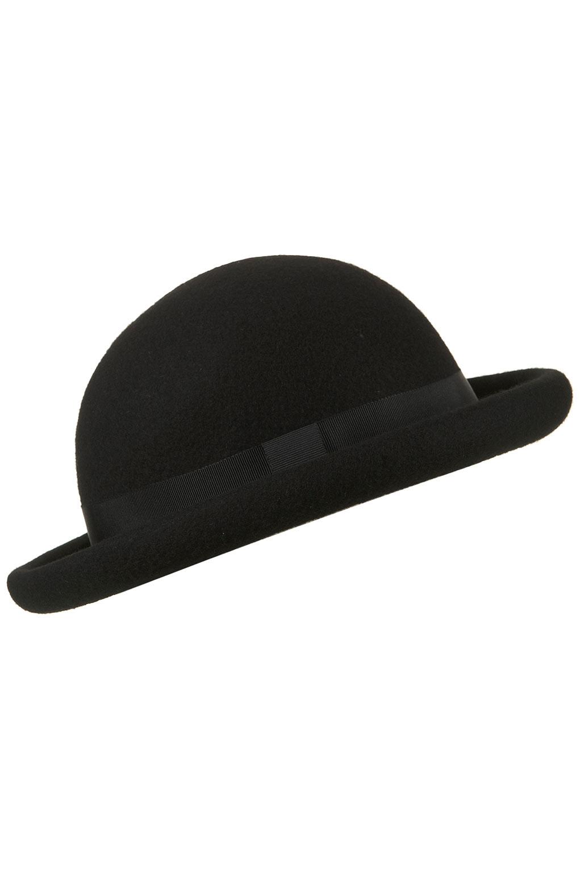 topshop roller bowler hat in black lyst