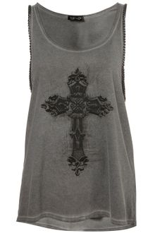 Topshop Ornate Cross Chain Vest - Lyst