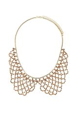 Topshop Sparkle Peter Pan Collar in Pink (peach) - Lyst