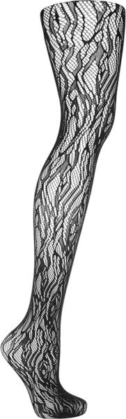 Wolford Fire Fishnet Tights in Black - Lyst