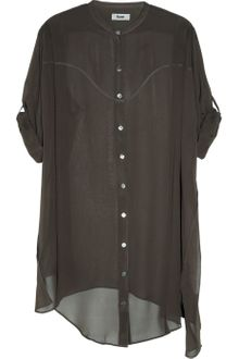 Acne Silkgeorgette Shirt Dress - Lyst
