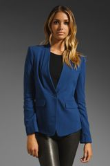 Bcbgmaxazria Blazer in Blue (blue depths) - Lyst