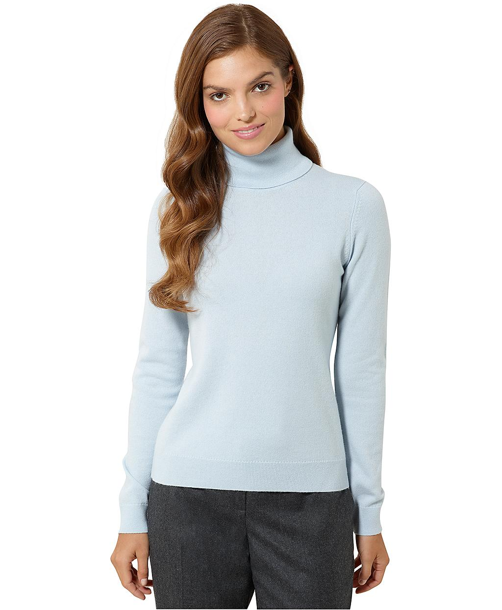 Brooks brothers Cashmere Turtleneck Sweater in Blue | Lyst