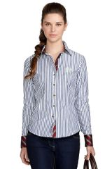 Brooks Brothers Fitted French Cuff Stripe Dress Shirt in Blue (navy-white) - Lyst