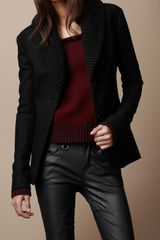 Burberry Brit Ribbed Collar Jacket - Lyst