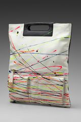 Foley + Corinna Splatter Fold Over Clutch in Blackwhite Multi Combo - Lyst