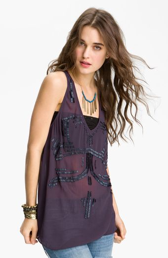 Free People Bead It Embellished Tank - Lyst