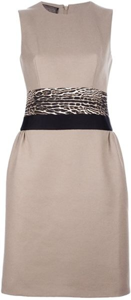 Giambattista Valli Sleeveless Dress in Beige - Lyst