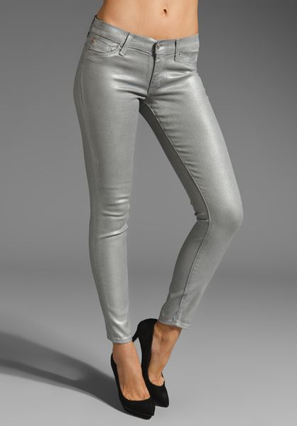 Hudson Metallic Krista Super Skinny in Silver (space) - Lyst