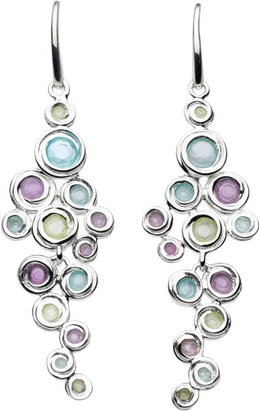 Kit Heath Honeycomb Gem Drop Earrings in Multicolor (multi-coloured)