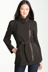 Michael by Michael Kors Asymmetrical Trench Coat - Lyst