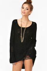 Nasty Gal New Wave Knit Black - Lyst