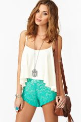 Nasty Gal Rose Lace Shorts - Lyst