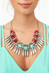 Nasty Gal Stoned Fringe Necklace - Lyst