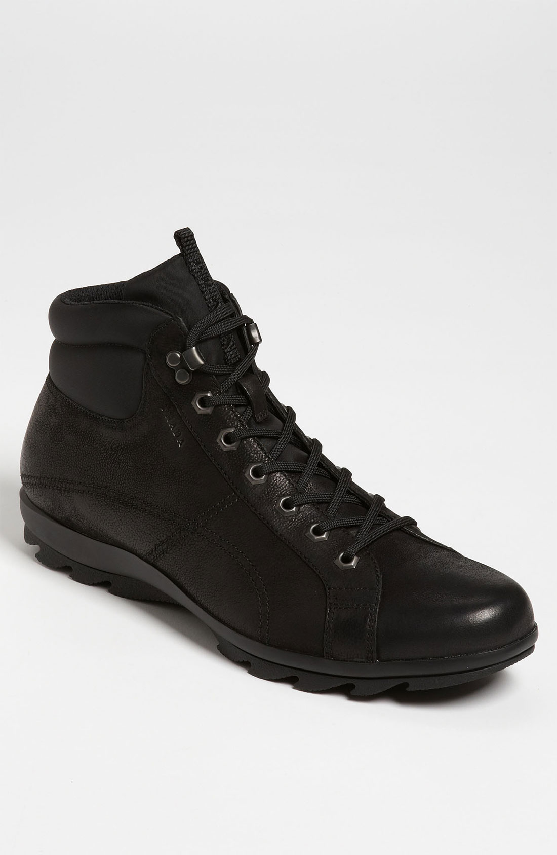 prada hiking boot in black for lyst