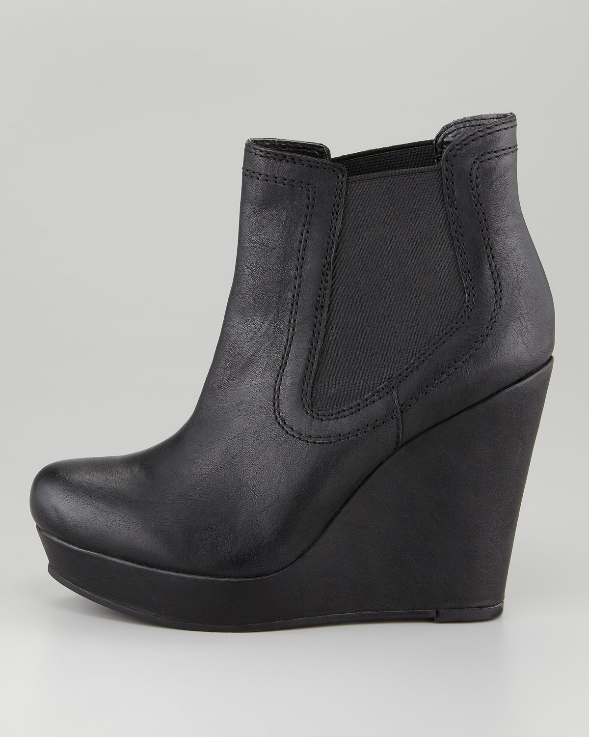 seychelles prime suspect wedge boot in black blk lyst